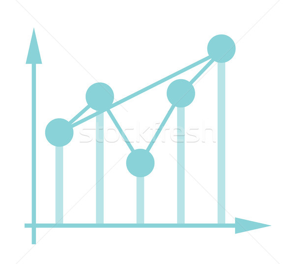 Fluctuating business chart in coordinate system. Stock photo © RAStudio
