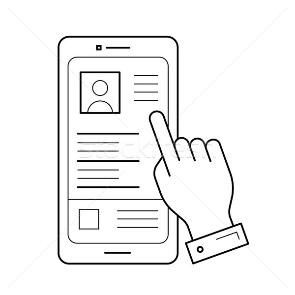 Phone layout line icon. Stock photo © RAStudio