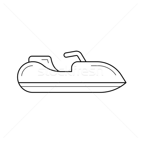 Jet ski line icon. Stock photo © RAStudio