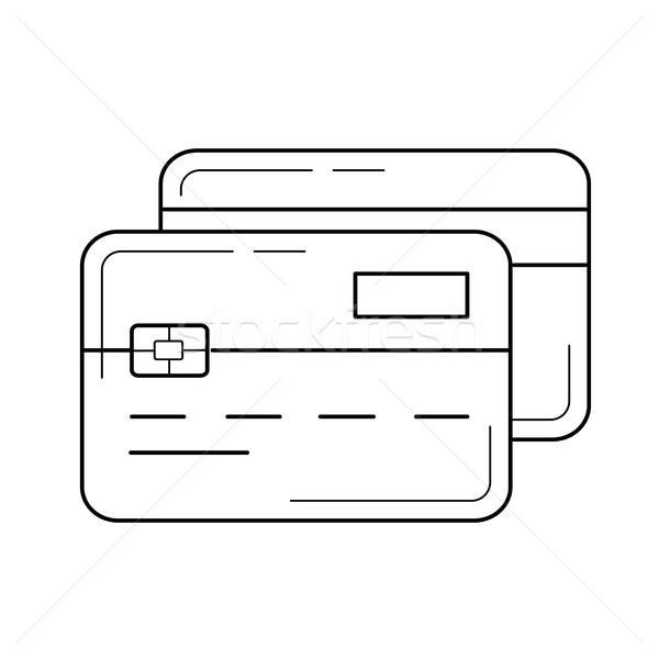 Credit cards vector line icon. Stock photo © RAStudio