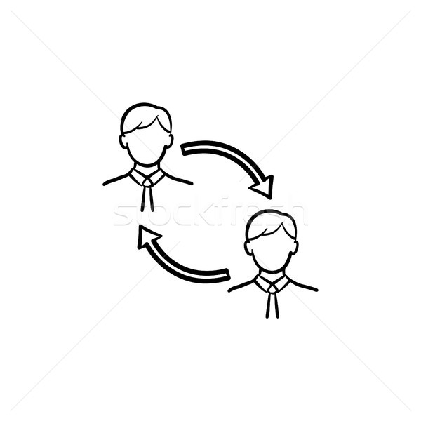 Employee turnover hand drawn sketch icon. Stock photo © RAStudio