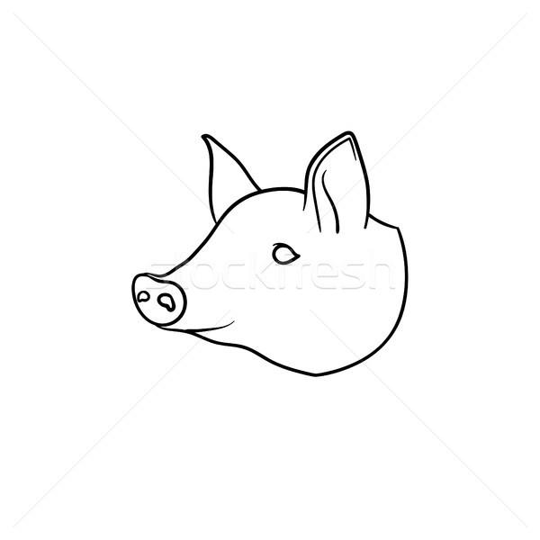Pork meat hand drawn sketch icon. Stock photo © RAStudio