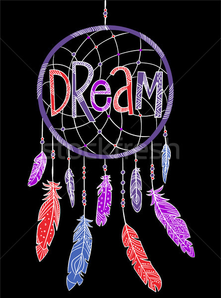 Dream concept t-shirt print and embroidery Stock photo © RAStudio