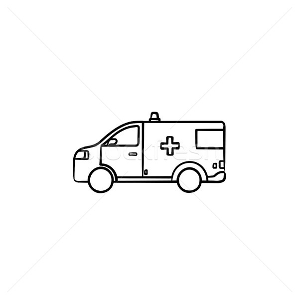 Resuscitation car hand drawn outline doodle icon. Stock photo © RAStudio
