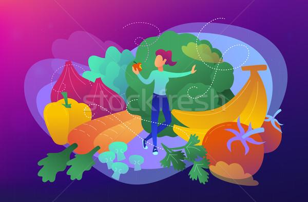 Raw veganism concept vector illustration. Stock photo © RAStudio