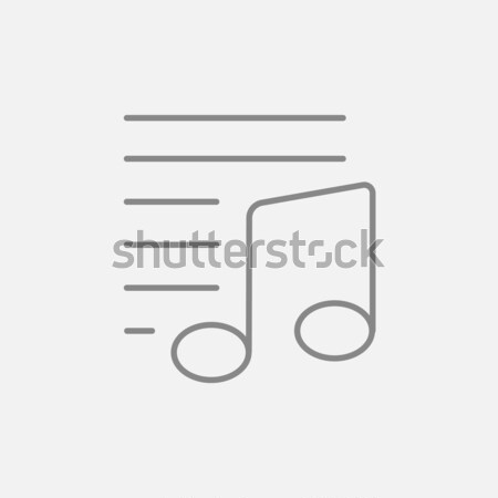 Musical note with lines thin line icon Stock photo © RAStudio