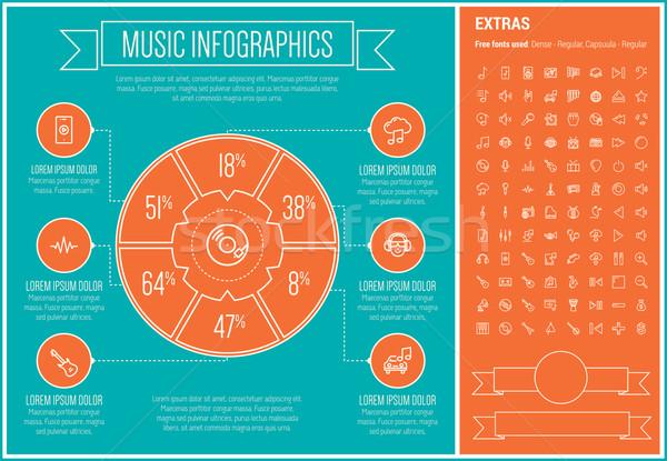 Müzik hat dizayn şablon elemanları Stok fotoğraf © RAStudio