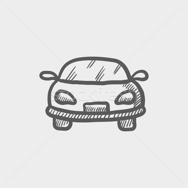 Sports car sketch icon Stock photo © RAStudio