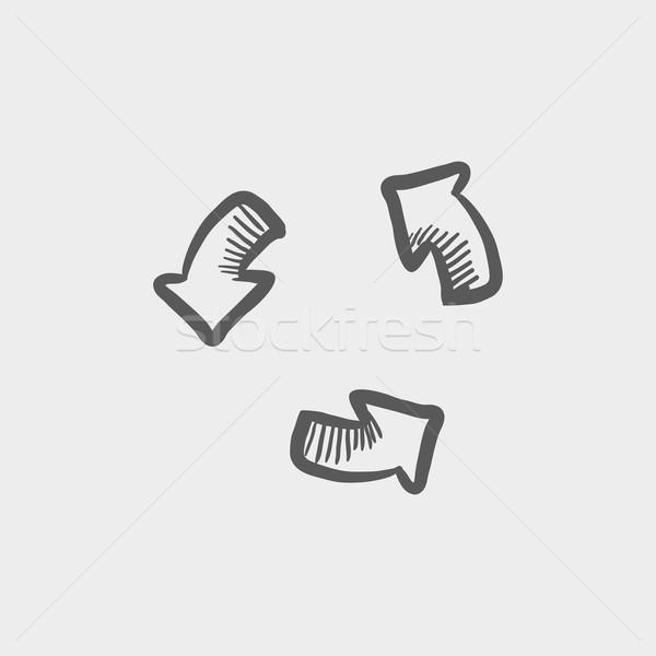 Replay button sketch icon Stock photo © RAStudio