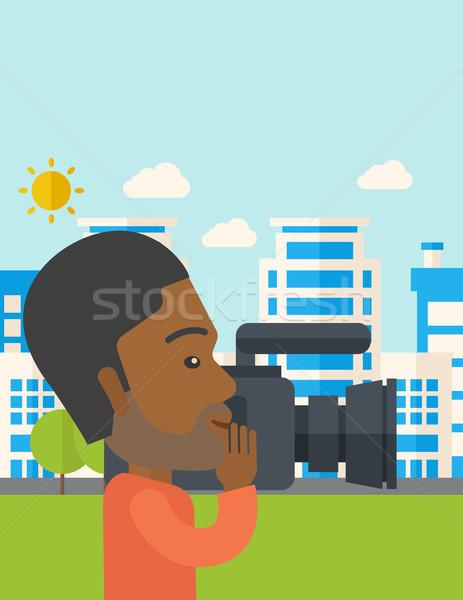 Stock photo: Cameraman.