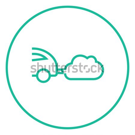 Auto uitputten lijn icon web mobiele Stockfoto © RAStudio