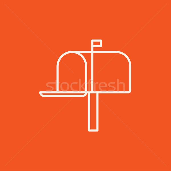 Posta kutusu hat ikon web hareketli infographics Stok fotoğraf © RAStudio