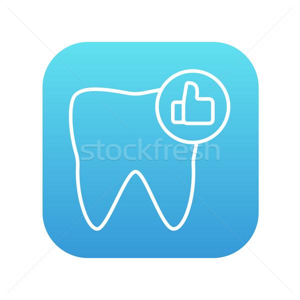Healthy tooth line icon. Stock photo © RAStudio