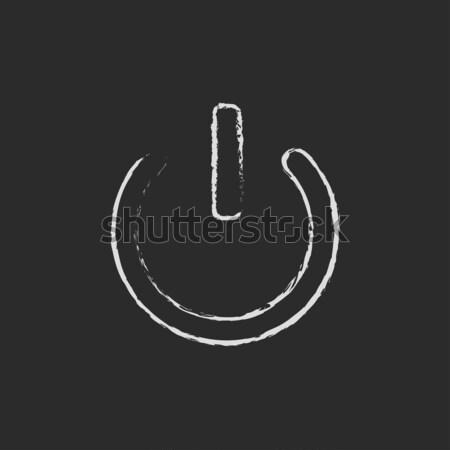 Power button line icon. Stock photo © RAStudio