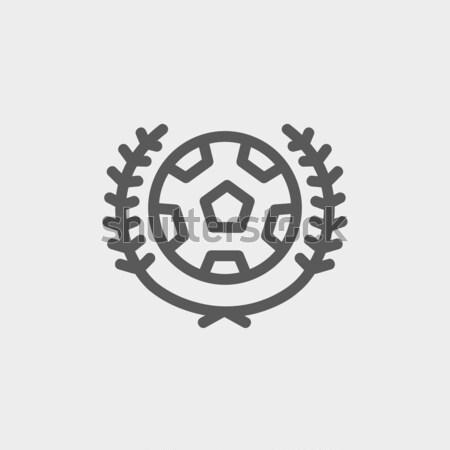 Soccer badge line icon. Stock photo © RAStudio