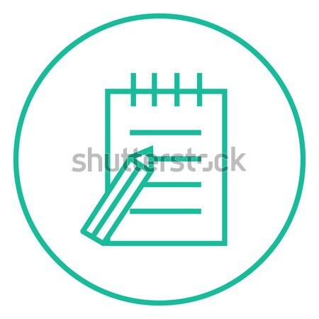 Writing pad and pen line icon. Stock photo © RAStudio