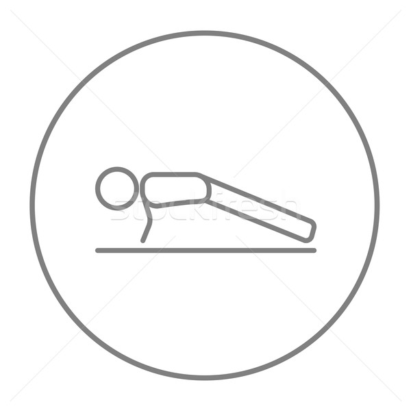 Man making push ups line icon. Stock photo © RAStudio