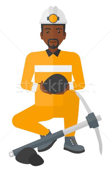 Kömür eller oturma vektör dizayn Stok fotoğraf © RAStudio