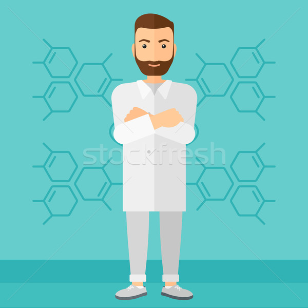 Male laboratory assistant. Stock photo © RAStudio