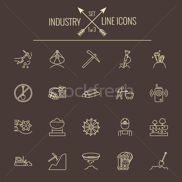 Industry icon set. Stock photo © RAStudio