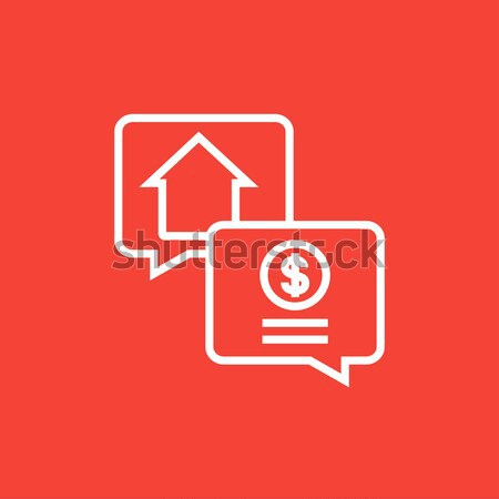 Ingatlan tranzakció vonal ikon sarkok háló Stock fotó © RAStudio