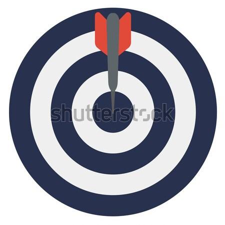 Darts arrows in the target center Stock photo © RAStudio