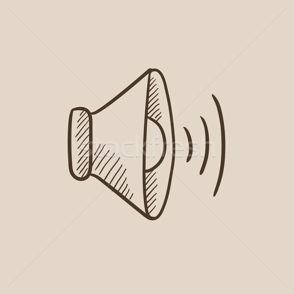 Speaker volume sketch icon. Stock photo © RAStudio