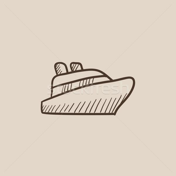 クルーズ船 スケッチ アイコン ウェブ 携帯 インフォグラフィック ストックフォト © RAStudio