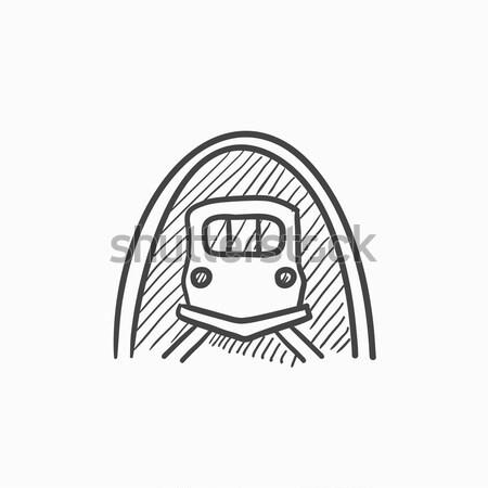 Railway tunnel sketch icon. Stock photo © RAStudio