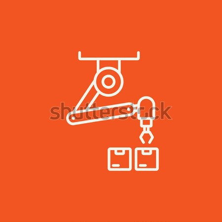Robotic packaging line icon. Stock photo © RAStudio