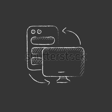 Cpu monitor giz ícone Foto stock © RAStudio