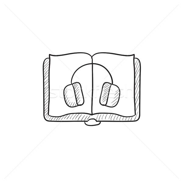 Audiobook sketch icon. Stock photo © RAStudio