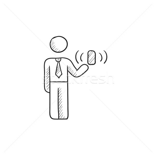 Mobilité croquis icône vecteur isolé dessinés à la main Photo stock © RAStudio