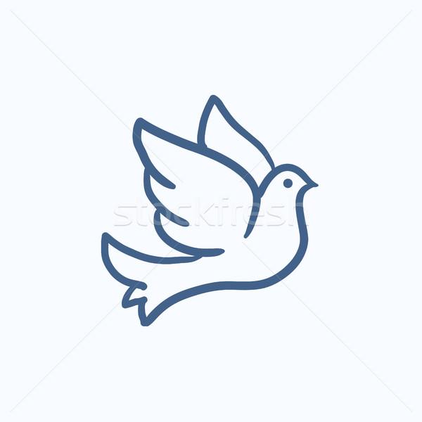 Wedding dove sketch icon. Stock photo © RAStudio