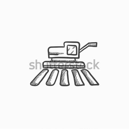 Combine harvester sketch icon. Stock photo © RAStudio