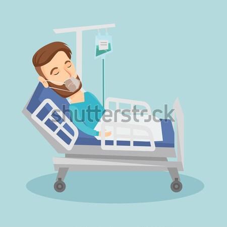 Hombre adulto cama hospital paciente Foto stock © RAStudio