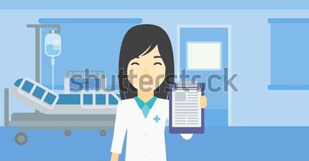 Médico clipboard asiático médico do sexo masculino prescrição Foto stock © RAStudio