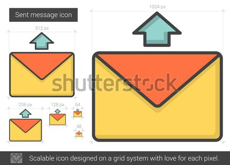 Send message line icon. Stock photo © RAStudio