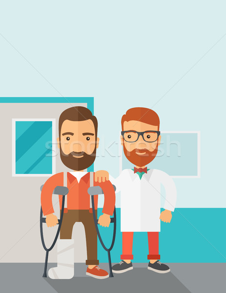 Injured man assisted by a doctor. Stock photo © RAStudio