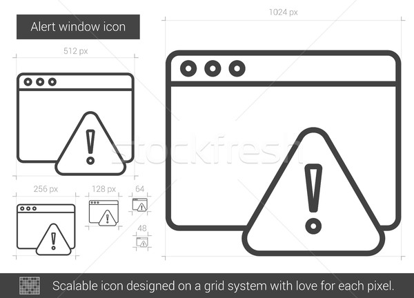 Alert window line icon. Stock photo © RAStudio