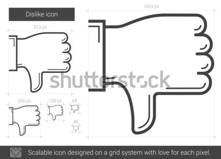 Antipatia linha ícone vetor isolado branco Foto stock © RAStudio