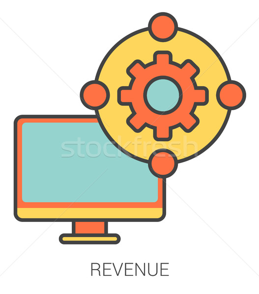 Revenue line icons. Stock photo © RAStudio
