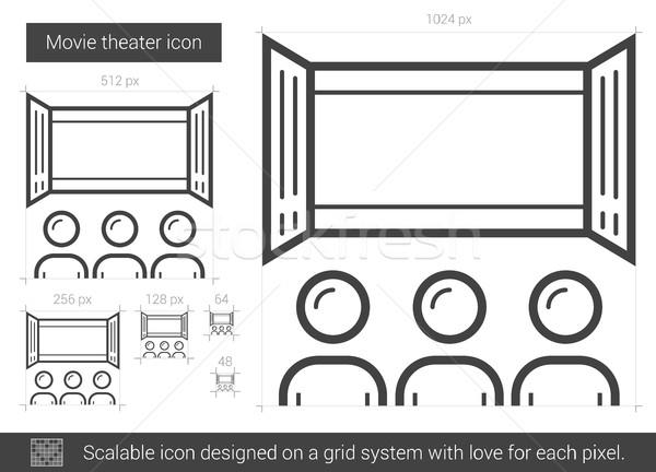 Película teatro línea icono vector aislado Foto stock © RAStudio
