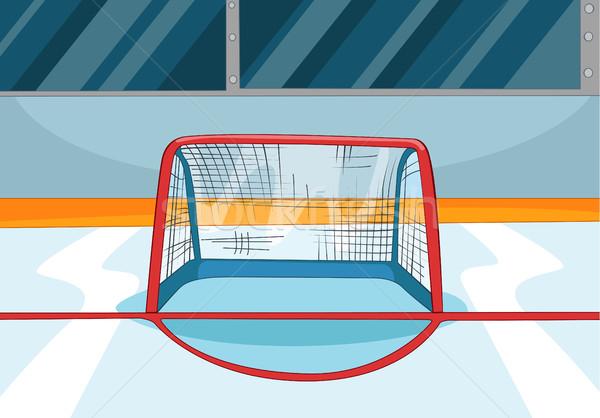 Stock fotó: Rajz · jégkorong · pálya · kézzel · rajzolt · sport · stadion