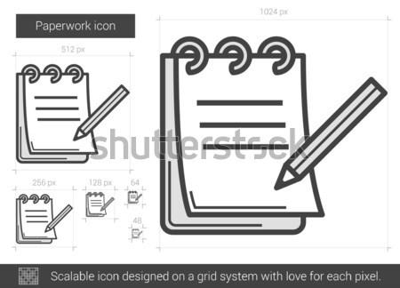Paperwork line icon. Stock photo © RAStudio