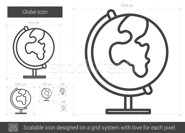 Globe line icon. Stock photo © RAStudio