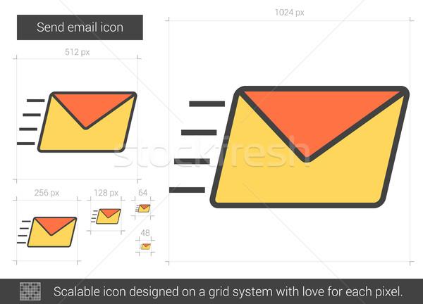Inviare e-mail line icona vettore isolato Foto d'archivio © RAStudio
