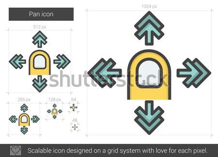 Enfocar fuera línea icono vector aislado Foto stock © RAStudio