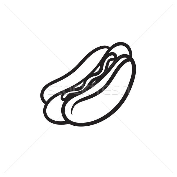 Hotdog sketch icon. Stock photo © RAStudio