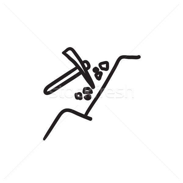 Minière croquis icône vecteur isolé dessinés à la main Photo stock © RAStudio